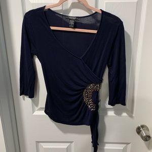 Rampage navy blue 3/4 sleeve top